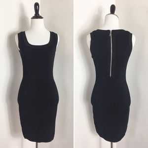 Torn By Ronny Kobo Black Seeveless Ribbed Dress